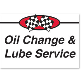 Sign ABS Plastic Two-Sided Curb -Oil Change & Lube Service