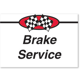 Sign ABS Plastic Two-Sided Curb - Brake Service
