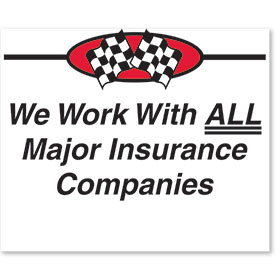 Sign ABS Plastic Two-Sided Curb -Major Insurance Companies