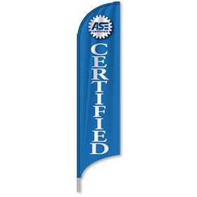 Tail Feather Flags ASE Certified