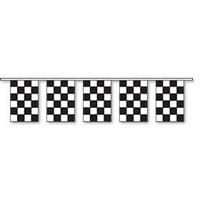 Rectangular Pennant Strings - Checkered Flag