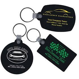 Recycled Tire Key Tags