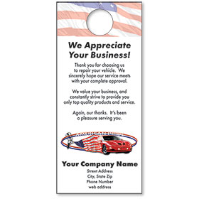 Automotive Thank You Hang Tags - American Pride II