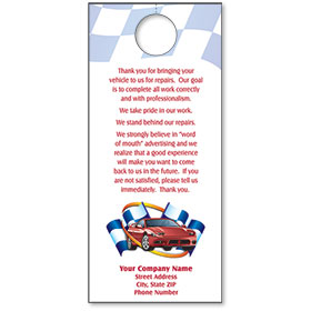 Automotive Thank You Hang Tags - Providing Quality Care