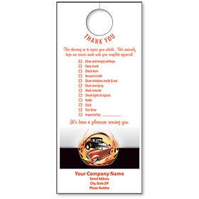 Automotive Thank You Hang Tags - Classic Cars