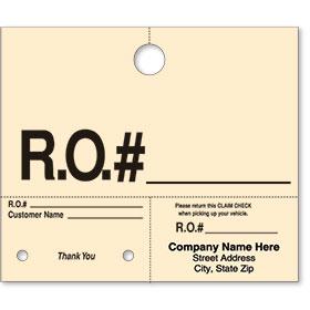 Un-numbered Manila Hang Tag