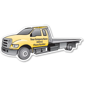 Magnetic Business Card Tow Truck