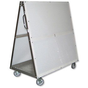 Mobile Tool Cart - Plastic Pegboard