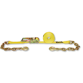 "B/A 2"" x 27' Ratchet Tie-Down With Chains & Grab Hooks  WLL 3300 LBS"