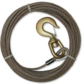 B/A 50' Fiber Core Wire Winch Line Assembly  3/8