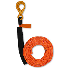"B/A Synthetic Rope Winch Line 3/8"" x 50' W/ Self-Locking Hook WLL 4100 LBS"