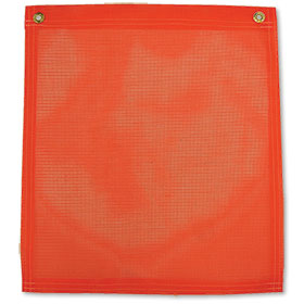 "Orange Safety Flag With Grommets - 18"" x 18"""