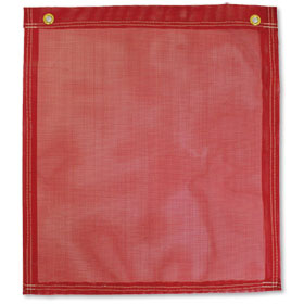 "Red Safety Flag with Grommets - 18"" x 18"""