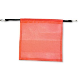 "Orange Safety Flag with Bungee Cord - 18"" x 18"""