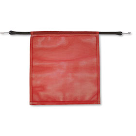 "Red Safety Flag With Bungee Cord- 18"" x 18"""
