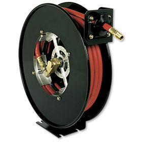 "Retractable Reel With 50' x 1/2"" PVC Hose"
