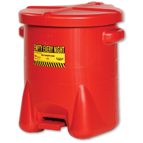 Polyethylene 14-Gallon Oily Waste Can