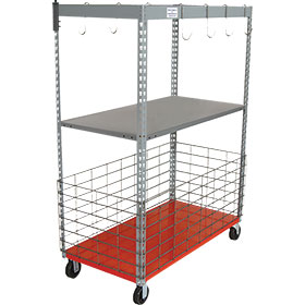 Original Parts Caddy™ - Parts Cart with Metal Shelf and Fencing