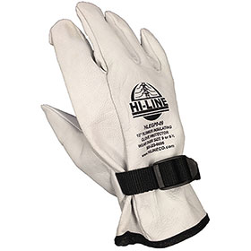 Leather Glove Protectors w/Strap