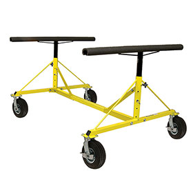4-Way Dolly With Pneumatic Wheels