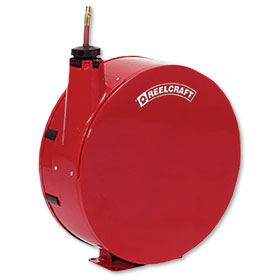 "Reelcraft Retractable Reel Enclosed 50' x 3/8"" Hose"