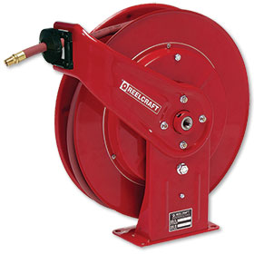 "Retractable Reel Enclosed 50' x 3/8"" Hose"