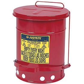 Justrite Oily Waste Can 6 Gallon Capacity 09100