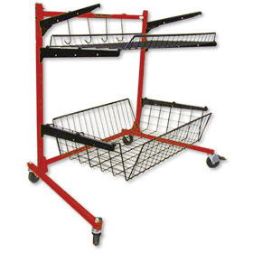 Parts Caddy PRO Jr  - - Parts Cart (1 Std and 1 Deep Shelf)