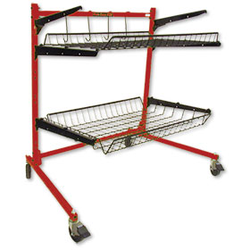 Parts Caddy PRO Jr - - Parts Cart (1 Std and 1 Medium Shelf)