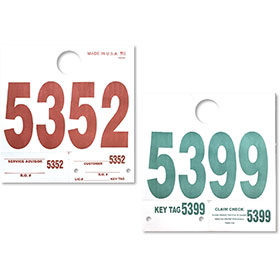 Heavy Stock Numbered Hang Tags