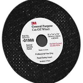 "3M™ General Purpose 3"" x 1/16"" x 3/8"" Cut-Off Wheel 01988"