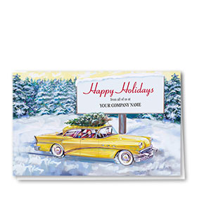 Double Personalized Full-Color Auto Holiday Cards - Billboard Greetings
