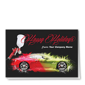 Double Personalized Full-Color Auto Holiday Cards - Holiday Splash