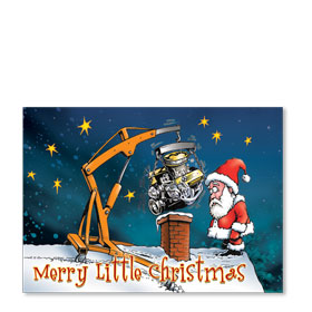 Personalized Full Color Holiday Postcard - Santa's Dilemma