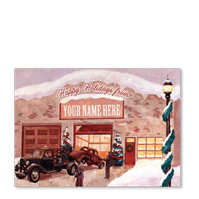 Double Personalized Full-Color Holiday Postcards - Reminisce