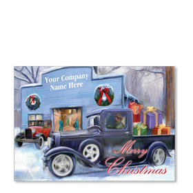 Double Personalized Full Color Holiday Postcard - Holiday Homeward