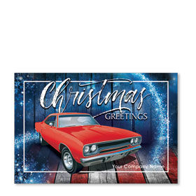 Double Personalized Full Color Holiday Postcard - American Classic