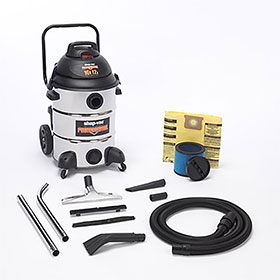 Shop-Vac 16 Gallon Switch Reluctance Stainless Steel Professional Wet Dry Vac