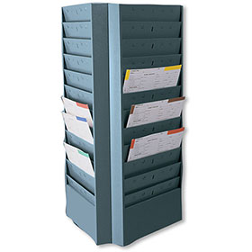 Three-Sided Swivel Rack