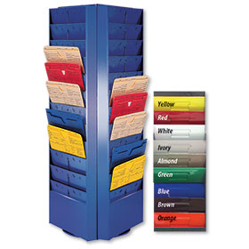 Colored Rotating Repair Order Racks - 72 Pocket