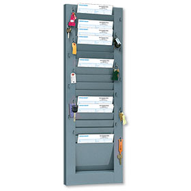Vertical 18-Pocket Repair Order Rack with Key Hooks