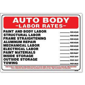 Sign Auto Body Labor Rates