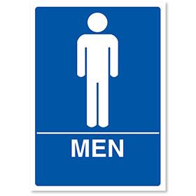 "Sign ADA - Men 7"" X 10"""