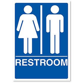 "Sign ADA - Restroom 7"" X 10"""