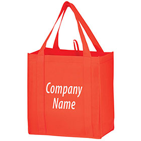 """Custom Reusable Recyclable Grocery Bags - 12"""" x 8"""" x 13"""""""