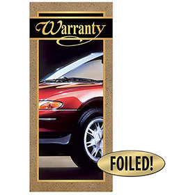Auto Repair Written Warranty - Quality, Gold Foil