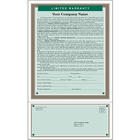 Auto Repair Written Warranty - Green, Customer Satisfaction Card