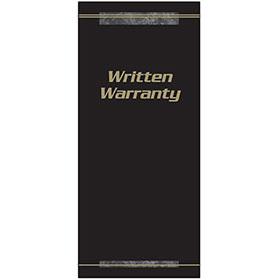 Customer Satisfaction Warranty - Black and Gold