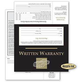 Customer Satisfaction Warranty - Black & Gold Wireframe