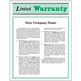 Auto Repair Warranty Forms - Green